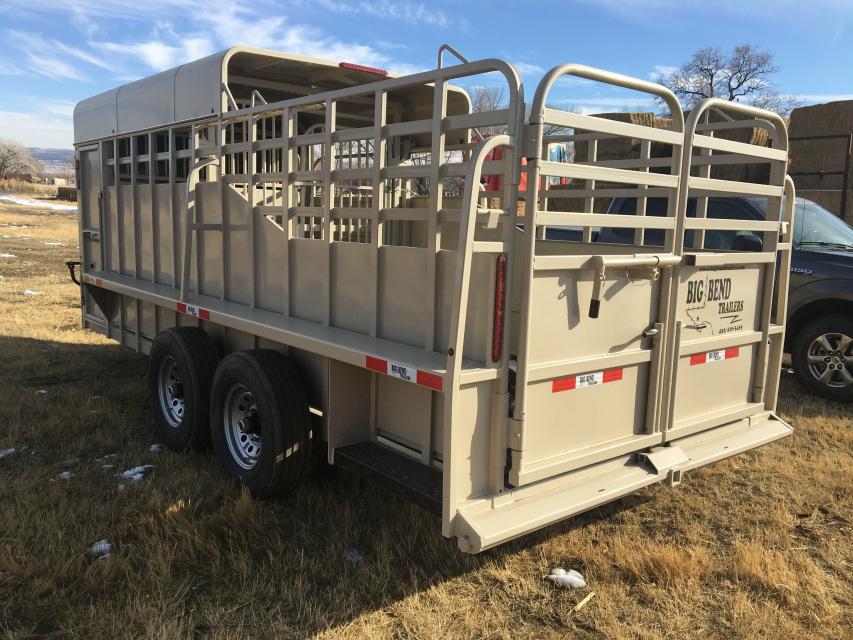 2019 Big Bend 18 Saddle Box Trailer